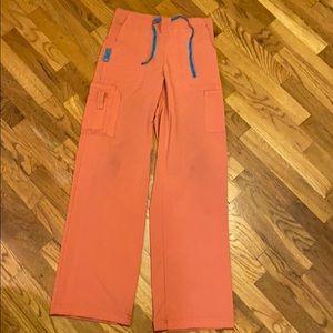 Carharrt salmon pink scrub pants